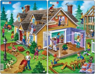 Larsen midi puzzle 30 db-os midi - Ház U13 Ajándéktárgyak