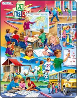 Larsen maxi puzzle 33 db-os Iskola US 34 Ajándéktárgyak
