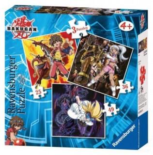 Puzzle 3 in 1 Bakugan Ajándéktárgyak
