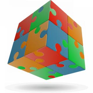 V-Cube 2x2 versenykocka, egyenes, Puzzle Ajándéktárgyak