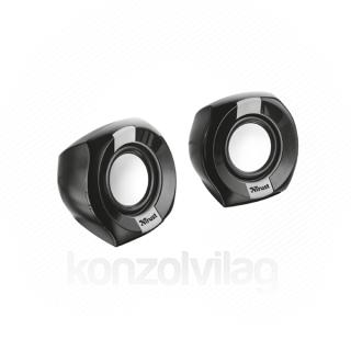 Trust Hangszóró 2.0 - Polo Compact (4W RMS; hangerőszabályzó; 3,5mm audio + USB tápcsatlakozó; fekete)