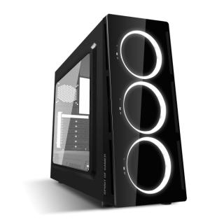 Spirit of Gamer Számítógépház - Deathmatch V White (fekete, ablakos, 3x12cm ventilátor, ATX, mATX, 1xUSB3.0, 1xUSB2.0) PC