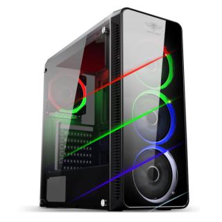 Spirit of Gamer Számítógépház - Deathmatch VII RGB (fekete, ablakos, 3x12cm ventilátor, ATX, mATX, 2xUSB3.0, 1xUSB2.0)