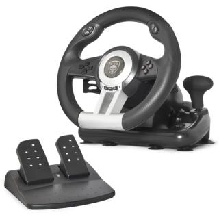 Spirit of Gamer Kormány - RACE WHEEL PRO (kormány+pedálok+váltó, PC / PS2/3 kompatibilis, fekete) PC
