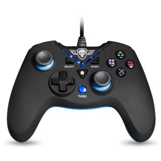 Spirit of Gamer Gamepad - XGP WIRED Blue (USB, 1,8m kábel, Vibration, PC és PS3 kompatibilis, fekete-kék) PC