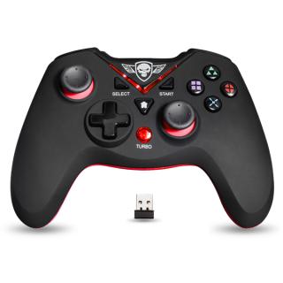 Spirit of Gamer Gamepad Vezeték Nélküli - XGP WIRELESS Red (USB, Vibration, PC és PS3 kompatibilis, fekete-piros) PC