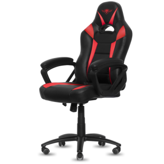 Spirit of Gamer szék - FIGHTER Red (állítható magasság; párnázott kartámasz; PU; max.120kg-ig, fekete-piros) PC