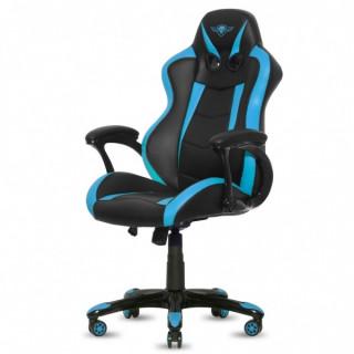 Spirit of Gamer szék - RACING Blue (állítható magasság; párnázott kartámasz; PU; max.120kg-ig, fekete-kék) PC