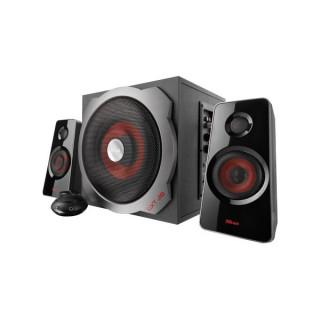 Trust Hangszóró 2.1 - GXT 38 Tytan (60W RMS; Fa mélynyomó; ERP II; h.szab.; 3,5mm jack; 230V táp; fekete) PC