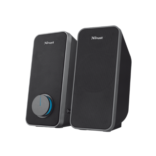 Trust Hangszóró 2.0 - Arys (14W RMS; hangerőszabályzó; 3,5mm jack; USB tápcsatlakozó; fekete) PC