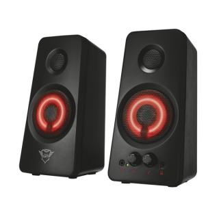Trust Hangszóró 2.0 - GXT 608 Tytan Illuminated (18W RMS; LED világítás; hangerőszabályzó; 3,5mm jack; USB tápcsatlakozó