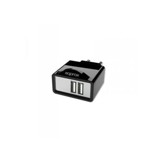 APPROX Telefon töltő - 1db USB2.0, 5V/2.1A, Fekete