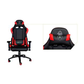 KEEP OUT szék - XS200PROR (állítható magasság;  PU; fekete-piros) PC