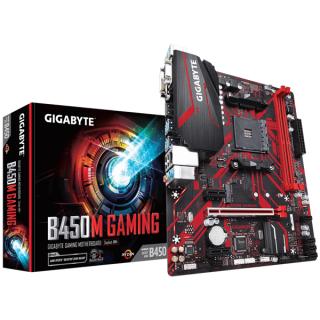 Gigabyte Alaplap - AMD B450 GAMING AM4 (B450, 2xDDR4 2933MHz, PCI-E, RAID, 4xSATA3, M.2, 6xUSB2.0, 6xUSB3.1)