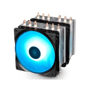 DeepCool CPU Cooler - NEPTWIN RGB (27dB; max. 95,99 m3/h; 4pin csatlakozó; 6 db heatpipe, 2x12cm, PWM, RGB LED) PC