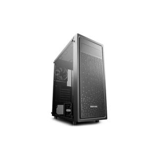 DeepCool Számítógépház - E-SHIELD (fekete,ablakos,fekete belső, 1x12cm ventilátor, ATX, mATX, E-ATX, 1xUSB3.0, 2xUSB2.0)