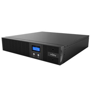 NJOY Szünetmentes 2200VA - Argus 2200 (4 IEC C13, line-interaktív, RJ45, RS232, USB, szoftver, LCD kijelző, 2U rack)