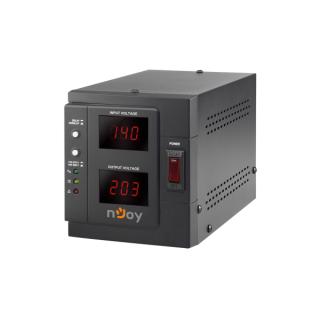NJOY Feszültség szabályzó 1000VA - Akin 1000 AVR (1x Shucko, LCD kijelző, indítás késleltetés) PC
