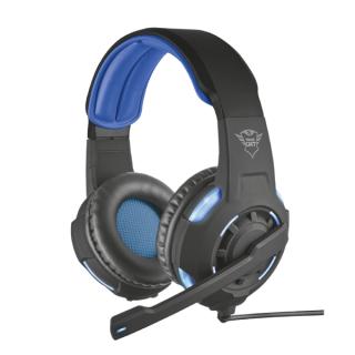 Trust Fejhallgató - GXT 350 Radius 7.1 Surround (világítás; mikrofon; hangerőszabályzó; USB; nagy-párnás; 3m kábel) PC