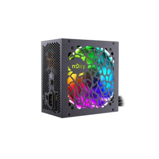 NJOY Tápegység 700W - Freya 700 (80 Plus Bronze, Aktív PFC, 12cm, RGB) PC