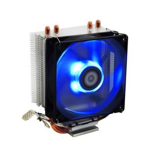 ID-Cooling CPU Cooler - SE-902X (14-23,8dB; max. 65,41 m3/h; 4pin csatlakozó, 2 db heatpipe, 9cm, PWM, Kék LED) PC