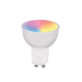 Woox Smart Home Okos Izzó - R5077 (GU10, 4,5 Watt, 380 Lumen, 2700K, RGB, Wi-Fi, távoli elérés)