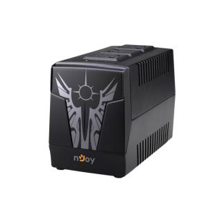 NJOY Feszültség szabályzó 1000VA - Paladin 1000 AVR (3 x Univerzális kimenet, RJ-11, fekete) PC