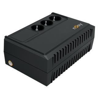 NJOY Szünetmentes  650VA - Renton 650 USB (3 Schuko kimenet, line-interaktív, fekete, USB) PC