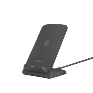 Trust Telefon töltő Vezeték nélküli - Expo10 (10W; döntött állvány; Qi szabvány; WPC minősítés) Tablet