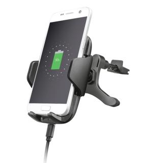Trust Telefon töltő Vezeték nélküli Autós - Yudo10 (10W; fekete; szélvédő tartó; Qi szabv.; sz.gyújtó adapter szükséges) Tablet