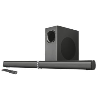 Trust Hangszóró Soundbar - Lino XL 2.1 Bluetooth (100W RMS; BT4.2; hangerőszabályzó; 3,5mm jack; USB; 230V táp, fekete)