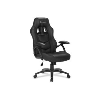 Sharkoon Gamer szék - Skiller SGS1 Black (állítható magasság; fix kartámasz; PU/PVC; acél talp; 100kg-ig) PC