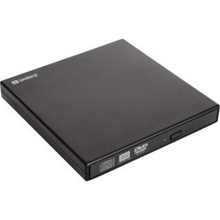 Sandberg ODD Külső - USB Mini DVD író (Retail; USB; USB tápellátás; Fekete) PC