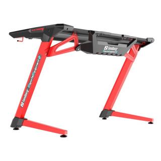 Sandberg Gamer Asztal - Fighter Gaming Desk 2 (Fa lap, fém lábak; fekete-vörös; 120x64x77 cm) PC