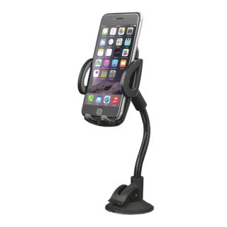 Trust Telefon tartó Autós - Gooseneck (Szélvédőre erősíthető; 15cm hajlítható nyak; max 6