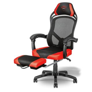 Trust Gamer szék - GXT 706 Rona (fém váz; hálós hátrész; állítható magasság; párnázott kartámasz; PU+szövet; max.120kg) PC