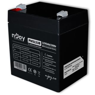 NJOY Szünetmentes akkumulátor - PW5123B (12V/5Ah, T2/F2, zárt, gondozás mentes, AGM) PC