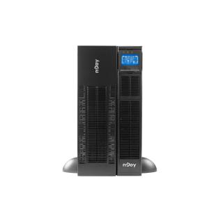 NJOY Szünetmentes 10000VA - Balder 10000 (Online, RS232, USB, szoftver, LCD kijelzo, 3U rack,20x 12V/9Ah + tárolóegység)