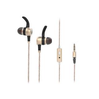 Rampage Fülhallgató - SN-J9 Native (mikrofon, 3.5mm TRRS jack, 1.5m kábel, Arany) PC