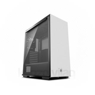 DeepCool Számítógépház - MACUBE 310P WH (fehér, fekete belső, ablakos, 1x12cm ventilátor, ATX, 2xUSB3.0)