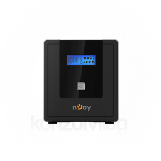 NJOY Szünetmentes  1000VA - Cadu 1000 (2 Schuko, line-interaktív, USB menedzsment, RJ11/45 vonalvédelem(1Gb/s), fekete) PC