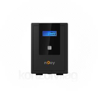 NJOY Szünetmentes  2000VA - Cadu 2000 (2 Schuko, line-interaktív, USB menedzsment, RJ11/45 vonalvédelem(1Gb/s), fekete)