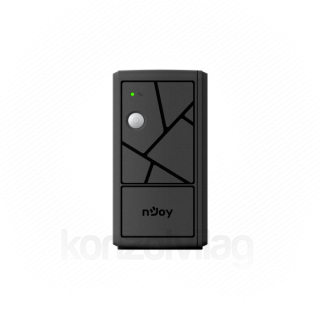 NJOY Szünetmentes  600VA - Keen 600 USB (2 Schuko, line-interaktív, USB menedzsment, RJ11/45 vonalvédelem, fekete) PC