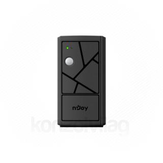 NJOY Szünetmentes  800VA - Keen 800 USB (2 Schuko, line-interaktív, USB menedzsment, RJ11/45 vonalvédelem, fekete)