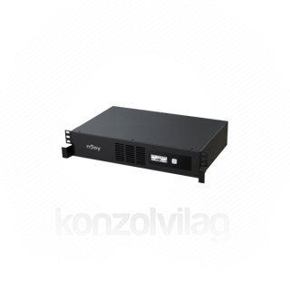 NJOY Szünetmentes 1000VA - Code 1000 (8 IEC C13, line-interaktív, USB menedzsment, szoftver, LCD kijelző, 2U rack)