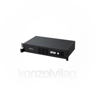 NJOY Szünetmentes 800VA - Code 800 (4 IEC C13, line-interaktív, USB menedzsment, szoftver, LCD kijelző, 2U rack)