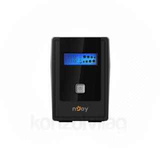 NJOY Szünetmentes  650VA - Cadu 650 (2 Schuko, line-interaktív, USB menedzsment, RJ11/45 vonalvédelem(1Gb/s), fekete)