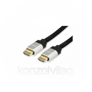 Equip Kábel - 119381 (HDMI2.1 kábel, apa/apa, 8K/60Hz, eARC, VRR, QMS, QFT, ALLM, DSC, aranyozott, 2m)