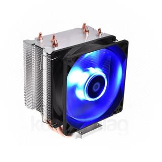 ID-Cooling CPU Cooler - SE-913-B (23,8dB; max. 65,41 m3/h; 3pin csatlakozó, 3 db heatpipe, 9cm, LED) PC