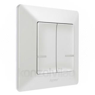 NETATMO kapcsoló - Vezetéknélküli, kettos egypólosú, Valena Life fehér (CR2032 gombelemmel) Otthon